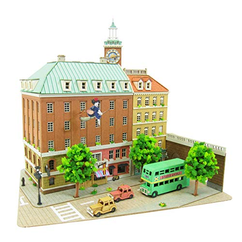 MK07-16 (Paper Craft) town of courier Koriko of 1/220 Studio Ghibli series witch by Sankei