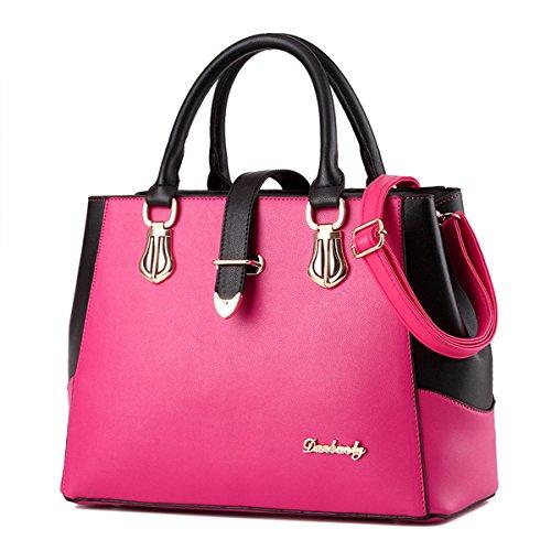 Nevenka Top Handle Handbag for Women Pu Leather Purses and Handbags for Girl Summer Crossbady Satchel (Pink) by Nevenka