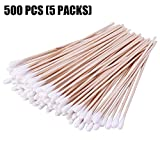 6'' Cotton Swabs Non-Sterile with Wooden Handles Cotton Tipped Applicator | 100 PCS / Pack) (500)