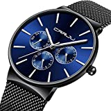Mens Watches Fashion Classic Luxury Casual Watches with Sub Dial Multifunctions Chronograph Sport Watches Waterproof 30M...