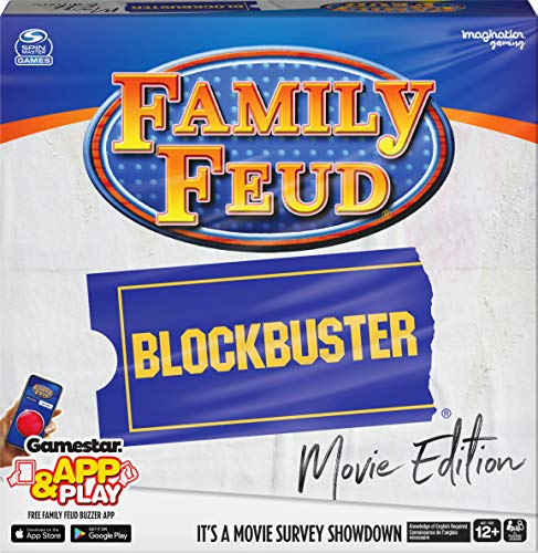 Family Feud Blockbuster Edition, Movie Trivia Survey Showdown Board Game for Ages 12 & up