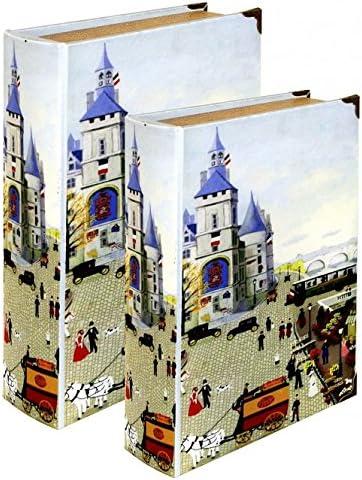 The Look Juego de 2 Libros de Almacenamiento para escenas de Pueblo – Regalo Ideal – se Abre para Almacenamiento: Amazon.es: Hogar