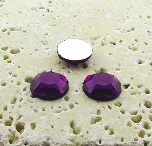 (PlasticBeadsWholesale Jewel-Tone Faceted Round Cabochons | Plastic Acrylic Lucite Flatback Beads for Jewelry Making |Amethyst Jewel Tone 5MM Lots of 144)