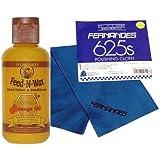 フェルナンデス ポリシングクロス 625SとHoward Feed-N-Wax 木部用 天然素材ワックス(ビーズワックス、カルナバワックス、オレンジオイル) のメンテナンスセット