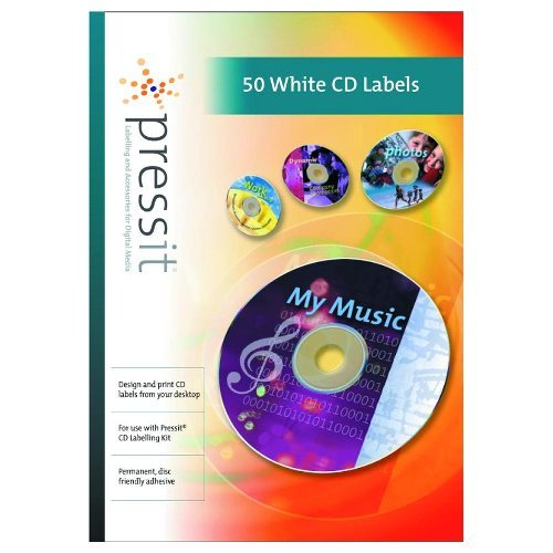 pressit dvd cd labels white 50pk amazon co uk office products