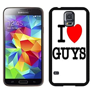 NEW Fashion Custom Designed Cover Case For Samsung Galaxy S5 I9600 G900a G900v G900p G900t G900w I Love Guys Black Phone Case