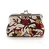GBSELL Women Owl Purse Small Wallet Clutch Bag (G)