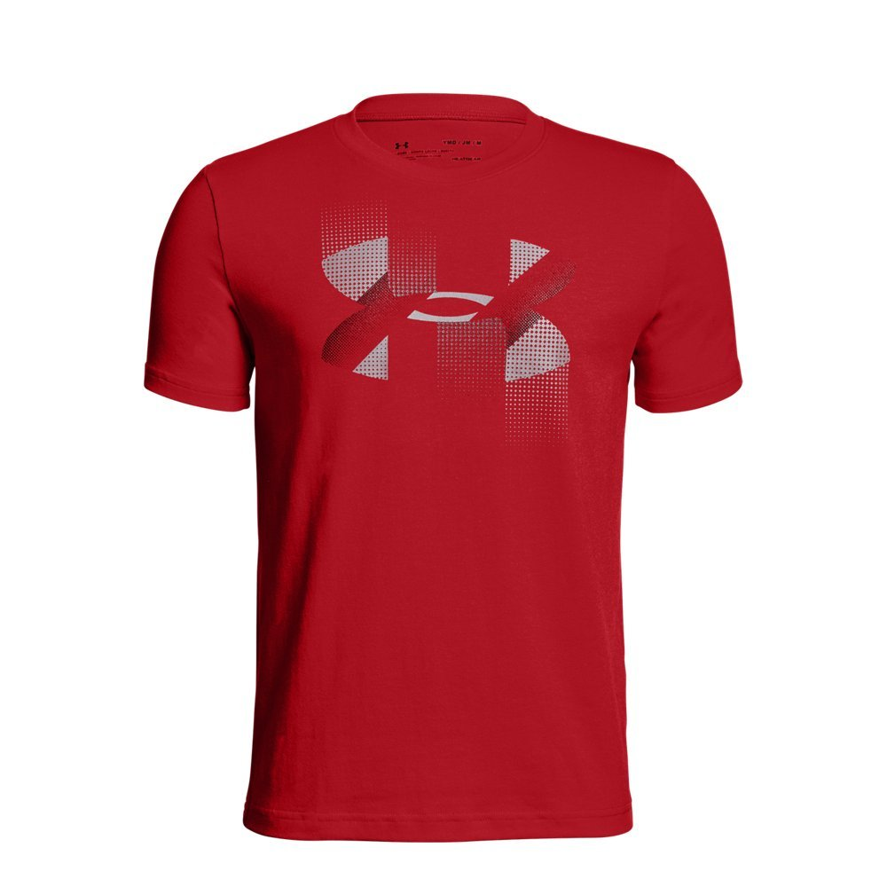 Under Armour Boys' Rapid Logo T-Shirt, Red (600)/Graphite, Youth X-Small