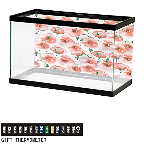 bybyhome Fish Tank Backdrop Flower,Artful Flower Bouquet,Aquarium Background,48