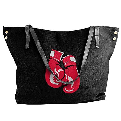 Large Capacity Gloves Women's Bags Handbag Black Boxing Tote Large Shoulder Canvas f5wUxgqR