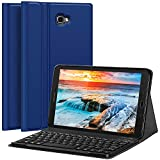 CHESONA Galaxy Tab A 10.1 Keyboard Case Compatible Samsung Galaxy Tab A 10.1 inch SM-T580 T585 Ultra Slim PU Leather Stand Flip Detachable Wireless Keyboard Cover (No S Pen) Andriod Tablet-Blue