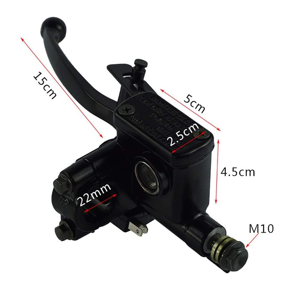 Accessoires de Moto, Moto Droite Et Gauche Hydraulique Frein Ma/ître Cylindre Levier pour 50 70 90 110 125CC Quad Pit V/élo 7//822mm Couleur : Right