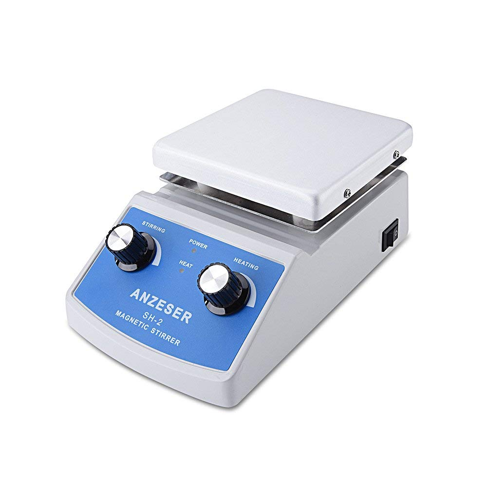 ANZESER Lab SH-2 Magnetic Stirrer Hot Plate, Stir Plate, Magnetic Mixer, 100~2000rpm, 180W Heating Power 350°C, 1 Year Warranty by ANZESER