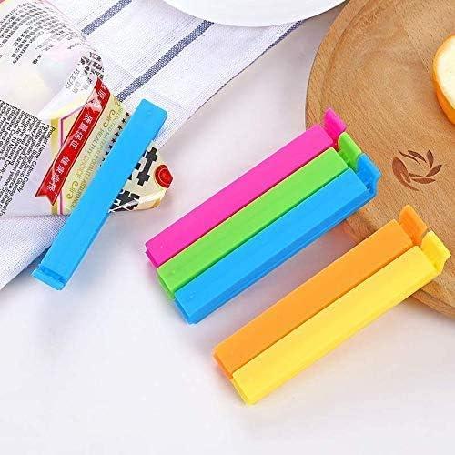 Dimensioni 11 cm 10Pz Clip di Tenuta Clip di Tenuta per Alimenti Chiusura per Cucina Clip di Plastica Clip di Chiusura Borse per Morsetti Clip di Conservazione per Alimenti Domestici
