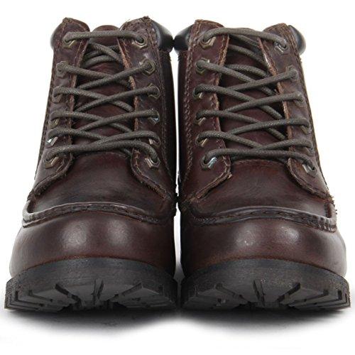 Red Tape - Botas de Piel para hombre marrón oscuro