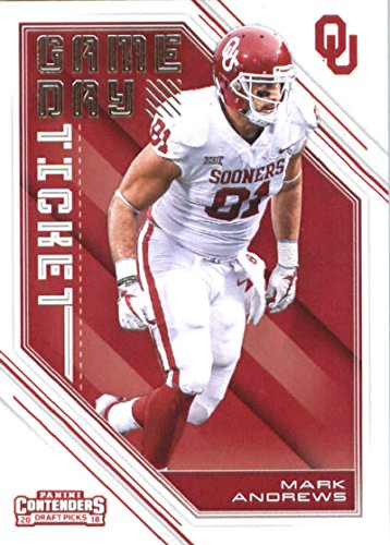 Oklahoma Sooners Collectibles - 2018 Panini Contenders Draft Picks Game Day Tickets #38 Mark Andrews Oklahoma Sooners Football Card