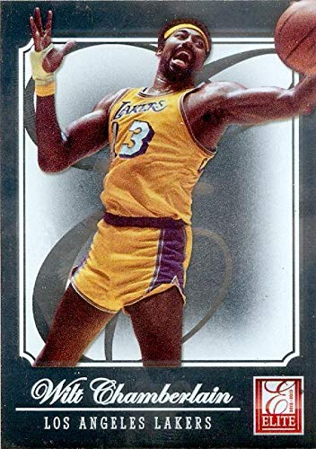 Wilt Chamberlain basketball card (Los Angeles Lakers) 2012 Donruss Elite #176