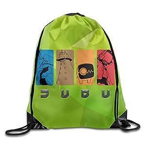 MAIQU Updated Anime Fooly Cooly Gym Sack Bag Drawstring Backpack Sport Bag