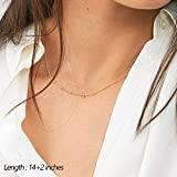 Turandoss Simple Dainty Necklace for Women