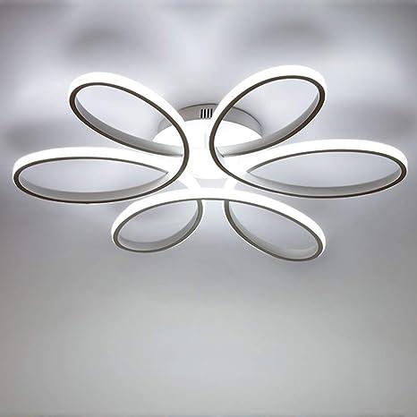 Lámpara de techo LED de 85 vatios Forma de flor creativa Lámpara de techo Pantalla de aluminio acrílico moderna y elegante, blanca mate Luz de techo ...