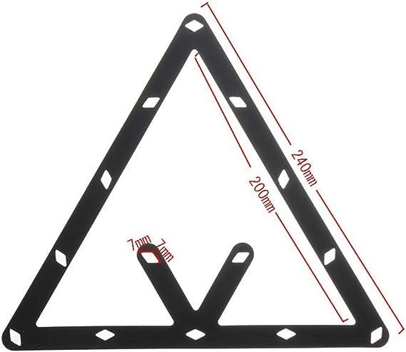pushfocourag Negro Juego de 6 Piezas DE 8 9 10 Bolas m/ágicas Invisibles para Colocar Billar o Billar