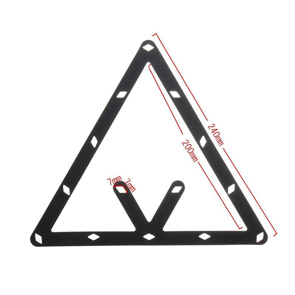pushfocourag 6pcs 8910Ball rack Magic invisibile posizionamento biliardo Tool Billiard Ball patch Triangle box Kick Ball adesivi–nero
