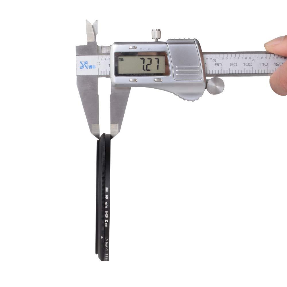 Zomei 82 mm ultra slim nd2-nd400 fader densit/à neutra variabile regolabile filtro dell obiettivo ultra slim ND filtro in vetro ottico