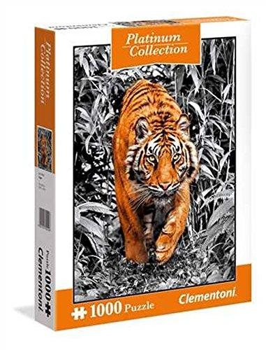Clementoni Puzzle Platinum Collection Tiger 1000 Pezzi 39429 Modellicolori Assortiti 1 Pezzo