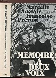 Mémoires à deux voix (French Edition)