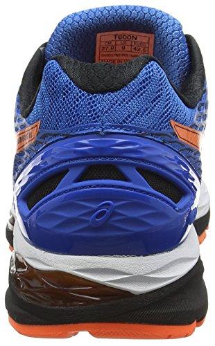 Asics Gel Nimbus 18 - Zapatillas de Running, Unisex Azul (Electric Blue / Hot Orange / Black)