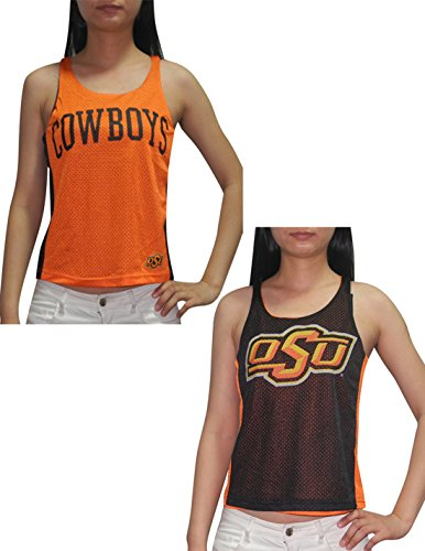 - Licensed Apparel NCAA Oklahoma State Cowboys Womens Reversible Dri-Fit Mesh Tank Top M Black&Orange