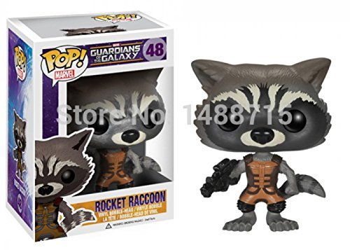 Monkey King Rocket Raccoon Sci-Fi Film Guardians of The Galaxy Funko Marvel POP 48 Vinyl Bobble Head Figure Toys Box