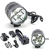 Cheap WindFire® Super Bright 5 X CREE XM-L T6 7000Lm 3 Modes White LED Bike Lamp Cree LED Headlight Solid Bicycle Light and Powerful Cree LED Bike Light Headlamp LED Lamp Flashlight Torch with 8.4V Battery Pack and US Plug Charger Set For Outdoor Hiking, Riding, Camping and Other Activites