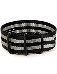 DaLuca Ballistic Nylon NATO 1 Piece Watch Strap - Bond (PVD Buckle) : 22mm