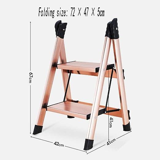 XEWNEG Hogar Multifuncional Escalera Pequeña Aluminio Grueso ...