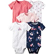 Carter's Baby Girls' 5-Pack Floral Bodysuits 3 Months