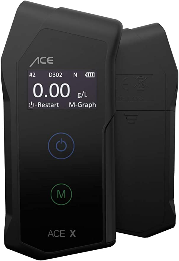 Ace X Alkotester Digitaler Promilletester Polizeigenauer Alkoholtester Tu Wien Testsieger 99 1 Genauigkeit Auto