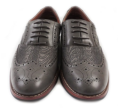 LINED M139001G OXFORDS NEW MENS UP SHOES FASHION LEATHER WINGTIP DRESS CASUAL GREY LACE nPxw8AxqpT