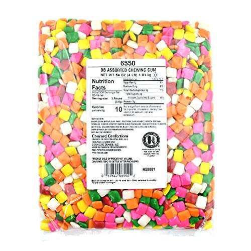 (Dubble Bubble Assorted Colors Chicle Tab Chewing Gum, 4 lb. Bag, Gumball Machine Refills, Bulk Packaging, 4)