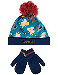 George Pig Boys' George Pig Hat and Gloves Set Age 4 to 6 Years