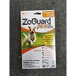 ZoGuard Plus for Dogs Flea Tick and Flea Eggs Control 4-22 LB 3 Month Supply