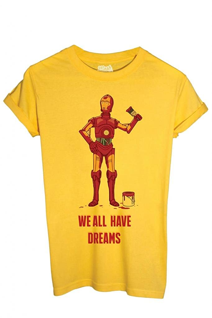FUNNY by Dress Your Style MUSH T-SHIRT IRON MAN C3PO STAR WARS
