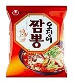 Seafood JJAMPONG 5ea, Spicy Korean Instant Noodle Soup Korea Ramen Ramyun, Ojingeo JJampong Ramen 5ea