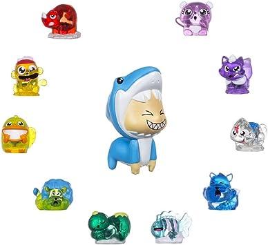 Hanazuki - Lunalux pack 10 tesoros animales y una pequeña figurita (Hasbro B8458ES0): Amazon.es: Juguetes y juegos
