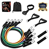 Resistance Bands Set (11pcs), Whatafit Workout Bands Exercise Bands with Door Anchor, Handles, Ankle Straps For Resistance Training, Physical Therapy, Home Workouts