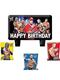 WWE Wrestling Molded Cake Candle Set (4pc)