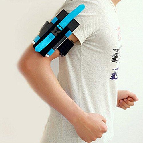 Gogogo Joggen Rennen Armband Handy Schutzfolie Beutel Tasche Arm-Halter für iPhone 6 Plus LG G5 (Blau) Tsgr5DY