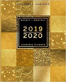 Gsu Calendar 2020 July 2019   June 2020   Weekly + Monthly Academic Planner   2019
