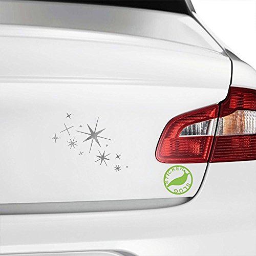 Twinkling Star Cluster Decal Sticker (metallic silver, 5 (Star Decals For Cars)