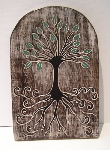 Tree of Life Wooden Wall Hanging, Fair Trade 30cm: Amazon.co.uk ...